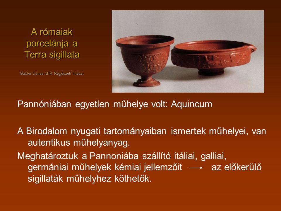 A rómaiak porcelánja a Terra sigillata Gabler Dénes MTA Régészeti Intézet