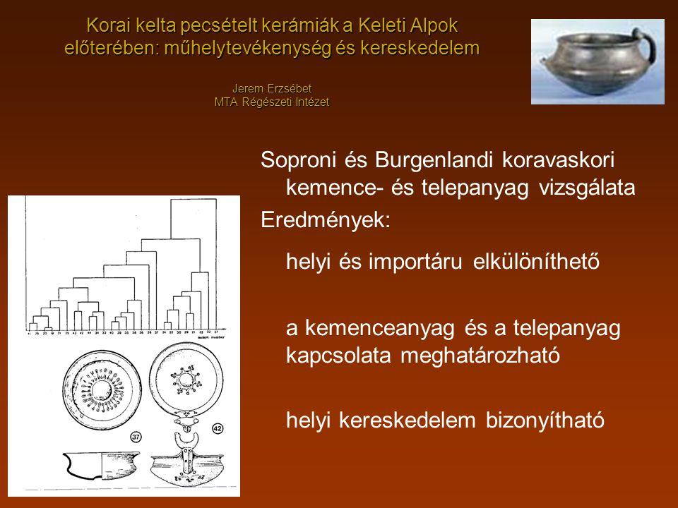 Soproni és Burgenlandi koravaskori kemence- és telepanyag vizsgálata