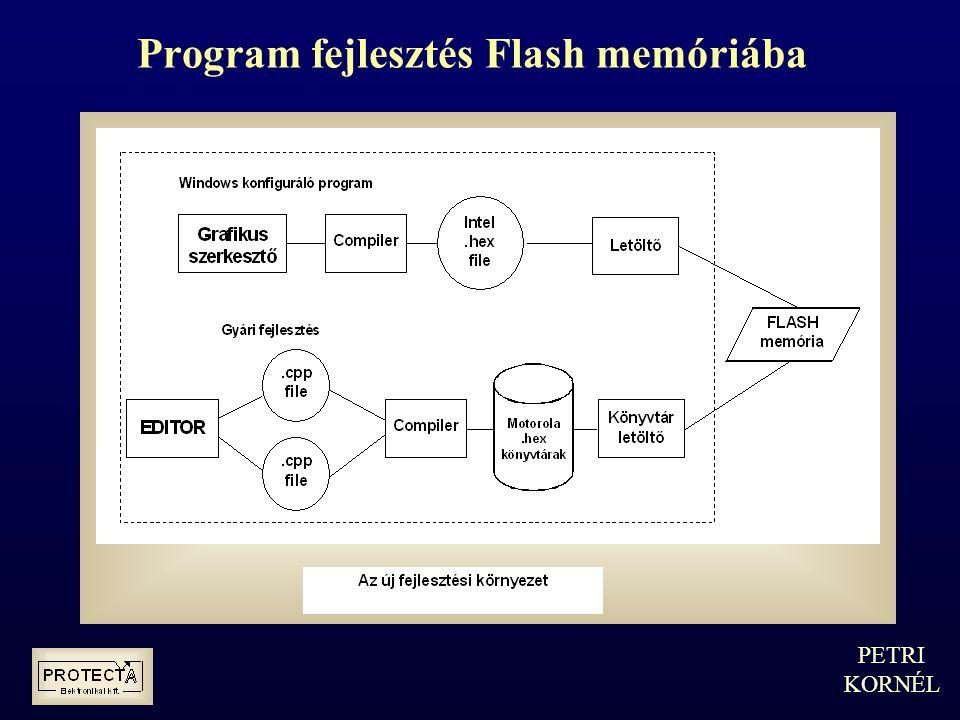 Program fejlesztés Flash memóriába