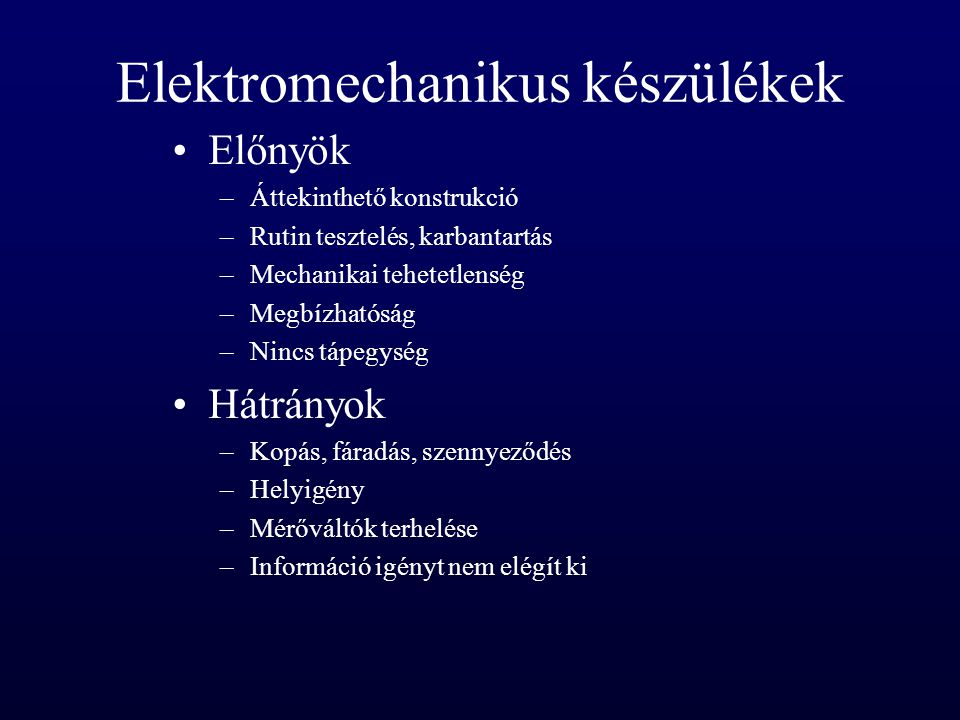 Elektromechanikus készülékek