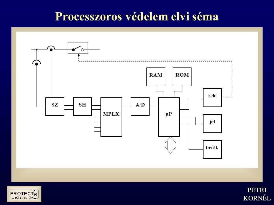 Processzoros védelem elvi séma