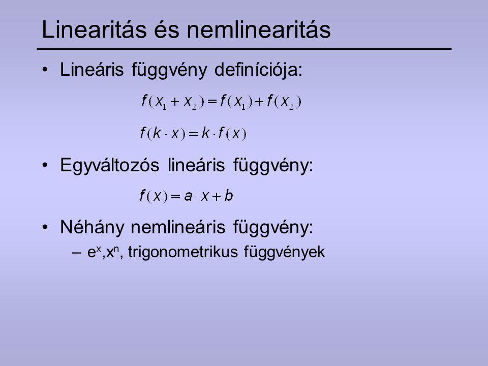 Linearitás és nemlinearitás