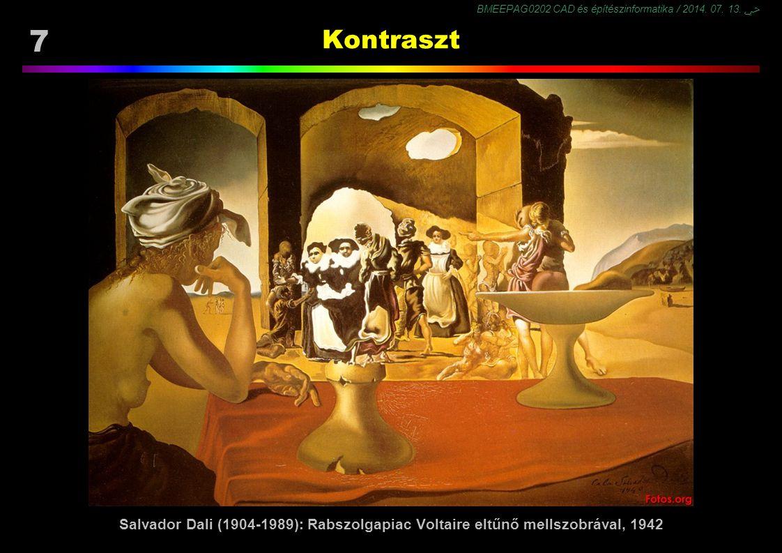 Kontraszt Salvador Dali (1904-1989): Rabszolgapiac Voltaire eltűnő mellszobrával, 1942