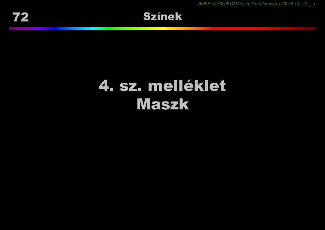 Színek 4. sz. melléklet Maszk