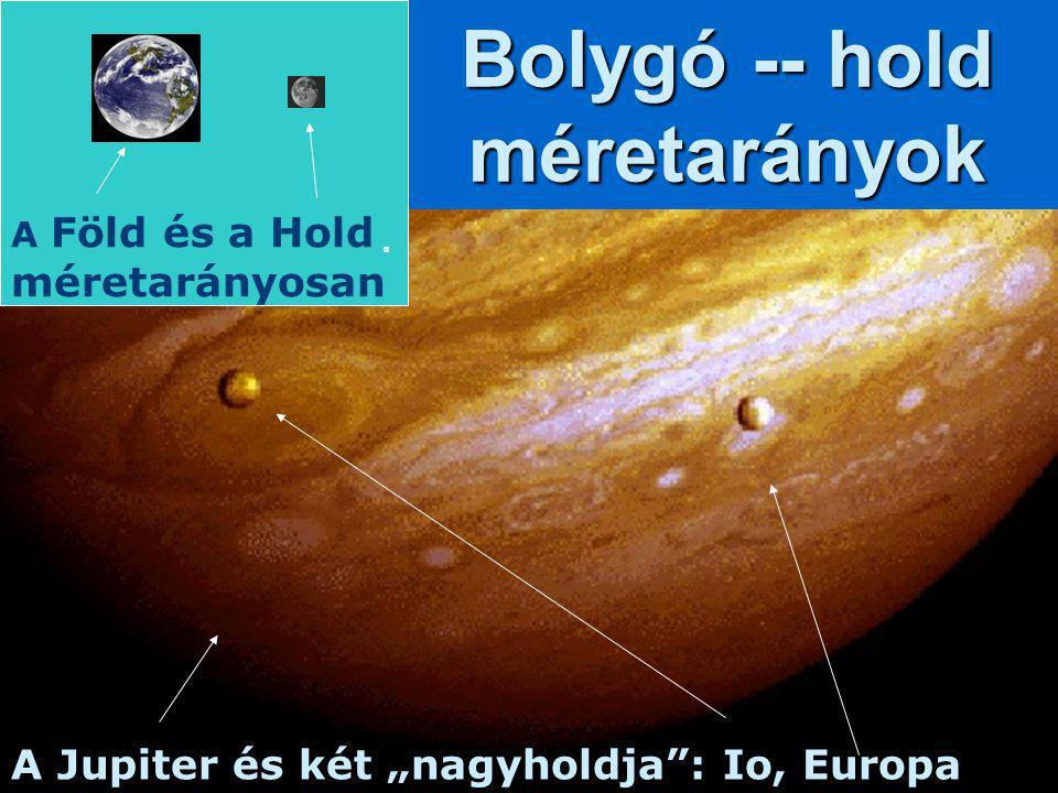 Bolygó -- hold méretarányok