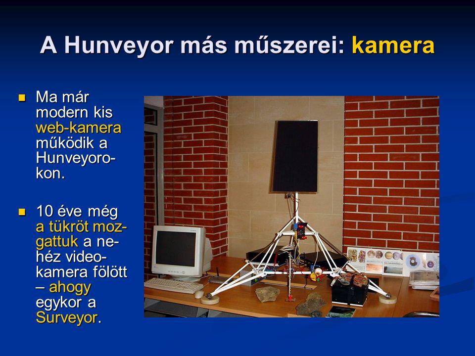A Hunveyor más műszerei: kamera
