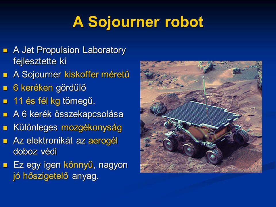 A Sojourner robot A Jet Propulsion Laboratory fejlesztette ki