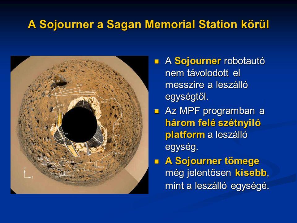 A Sojourner a Sagan Memorial Station körül