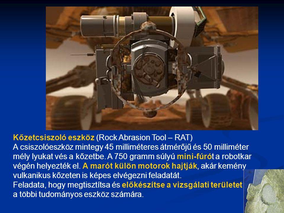 Kőzetcsiszoló eszköz (Rock Abrasion Tool – RAT)
