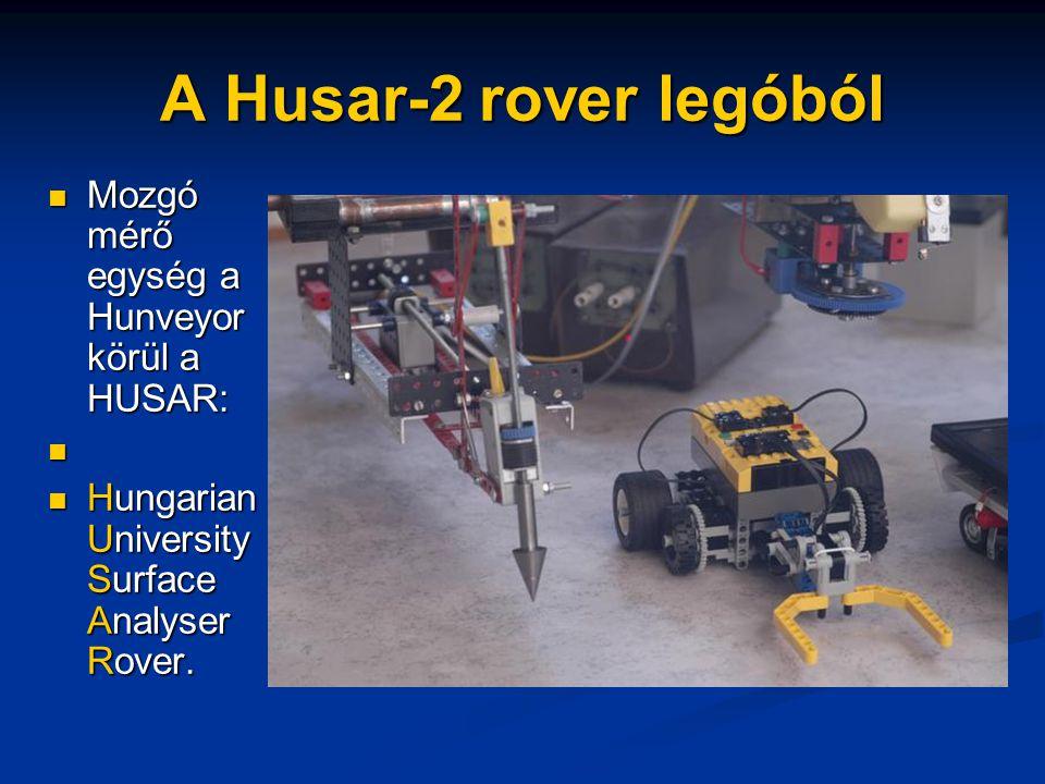 A Husar-2 rover legóból Mozgó mérő egység a Hunveyor körül a HUSAR: