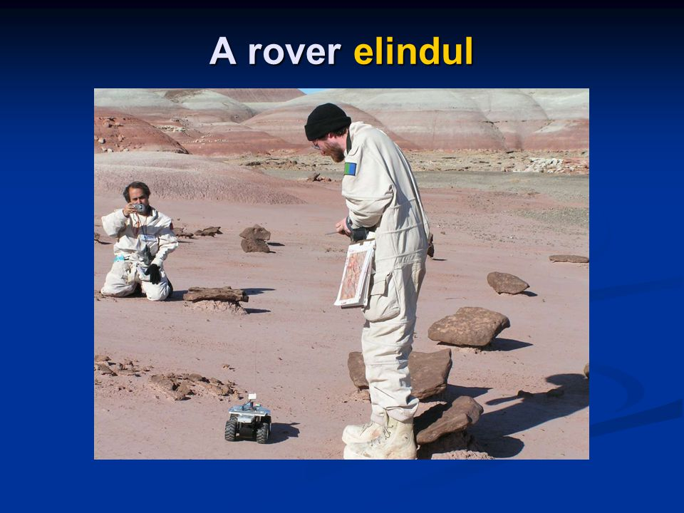A rover elindul
