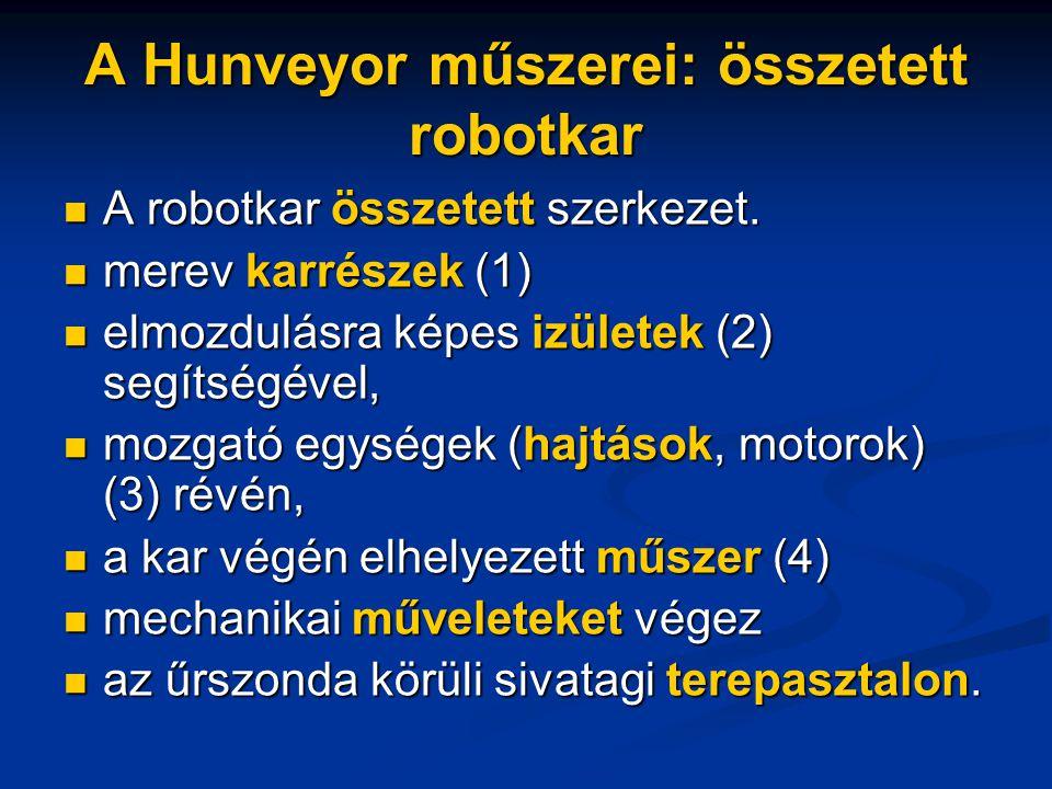 A Hunveyor műszerei: összetett robotkar