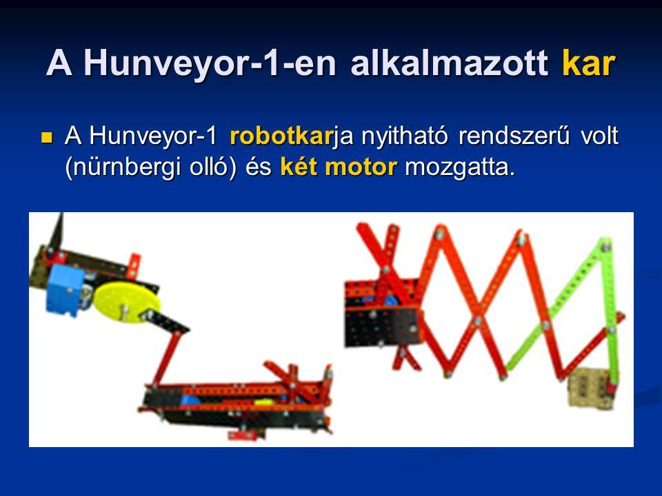 A Hunveyor-1-en alkalmazott kar