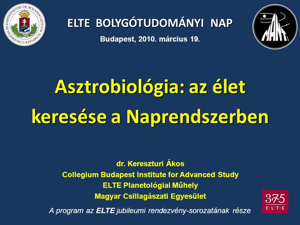 Asztrobiológia: az élet