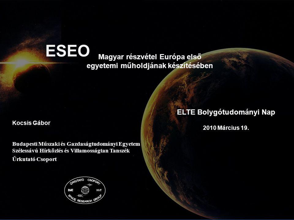 ESEO Magyar részvétel Európa első egyetemi műholdjának készítésében