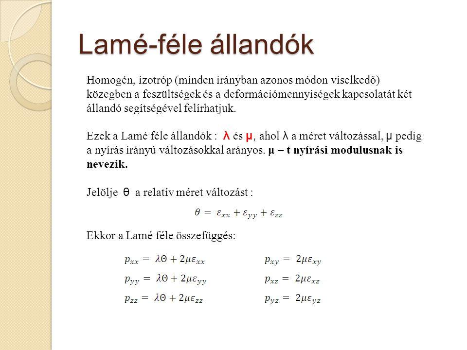 Lamé-féle állandók