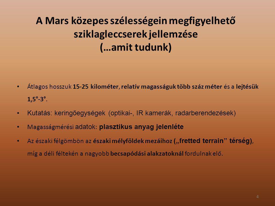 A Mars közepes szélességein megfigyelhető sziklagleccserek jellemzése (…amit tudunk)