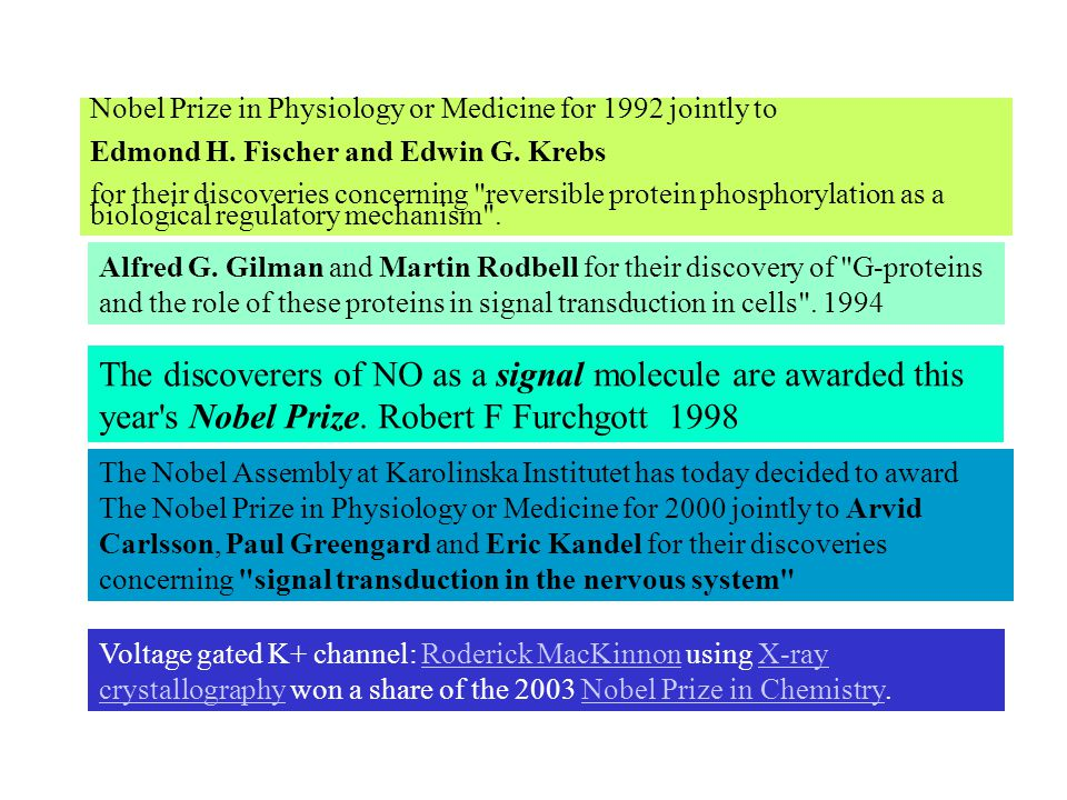 Nobel Prize in Physiology or Medicine for 1992 jointly to Edmond H