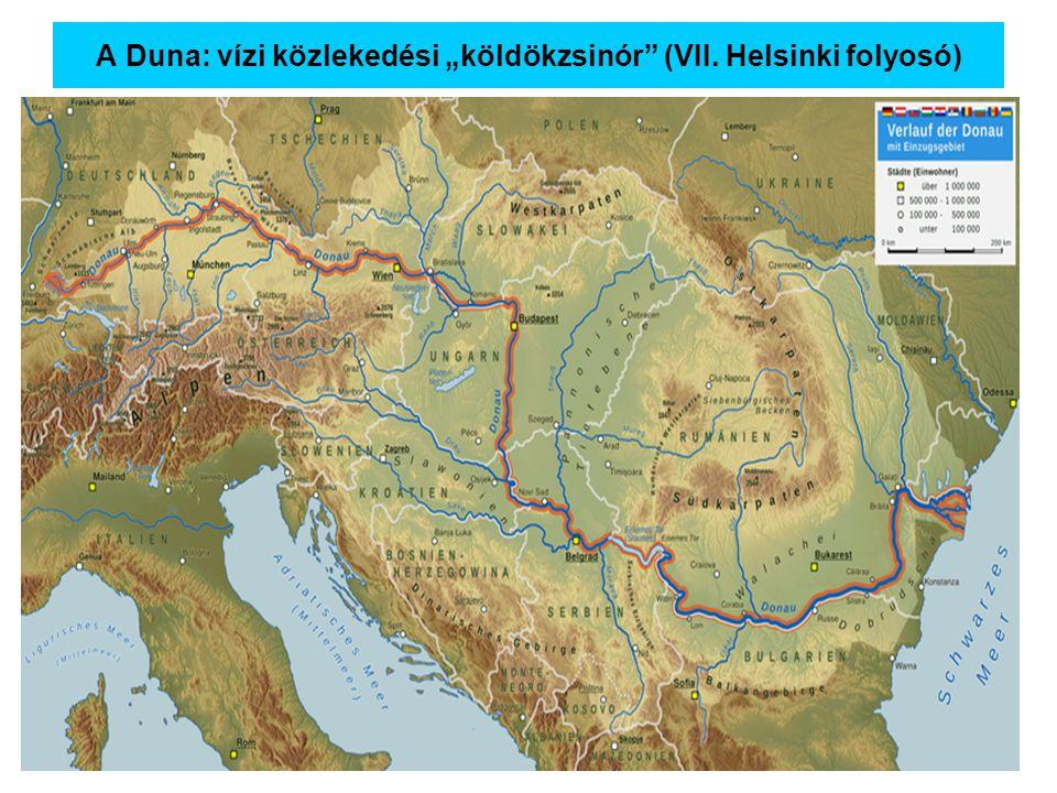 """A Duna: vízi közlekedési """"köldökzsinór (VII. Helsinki folyosó)"""