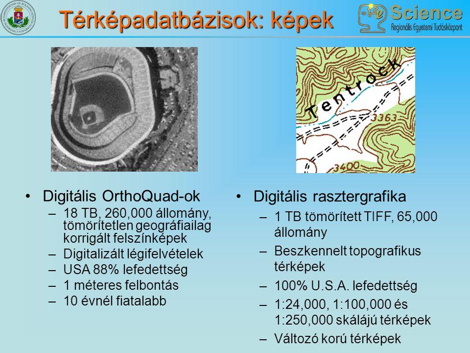 Térképadatbázisok: képek