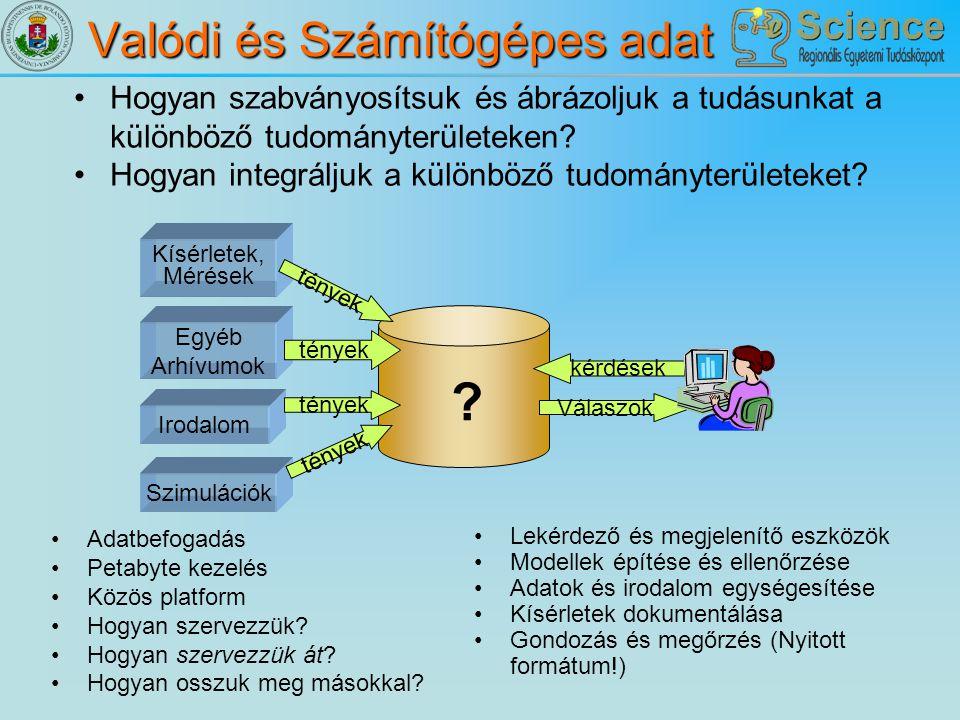 Valódi és Számítógépes adat
