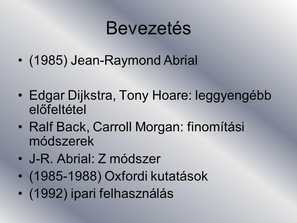 Bevezetés (1985) Jean-Raymond Abrial