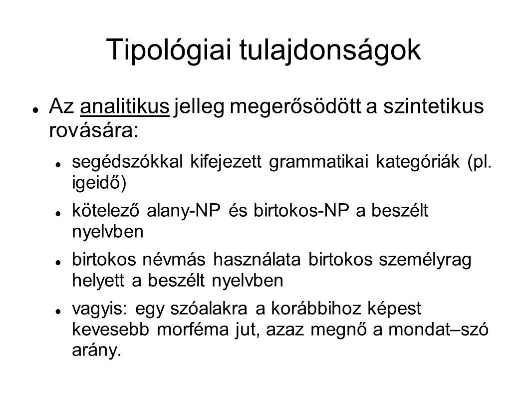 Tipológiai tulajdonságok