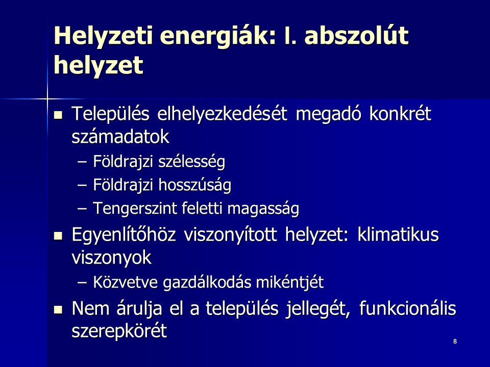 Helyzeti energiák: I. abszolút helyzet