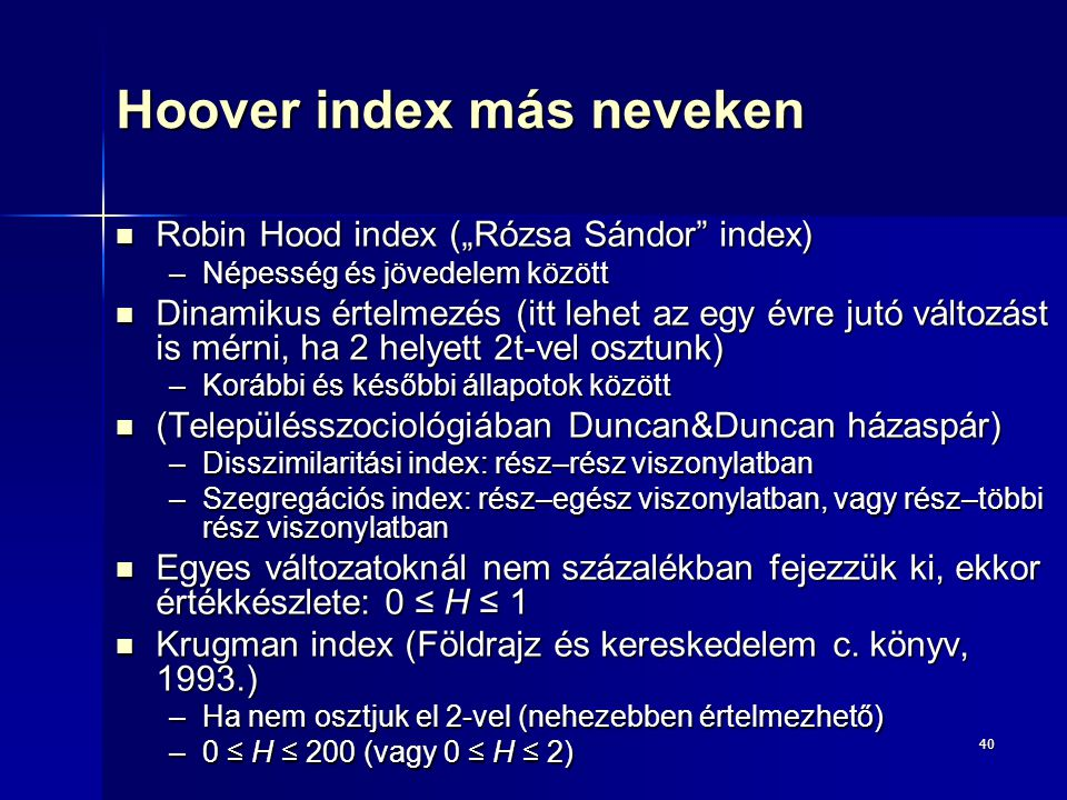 Hoover index más neveken