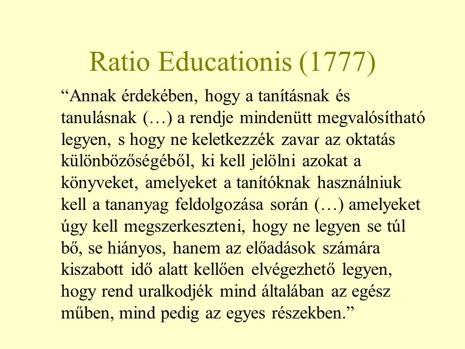 Ratio Educationis (1777)
