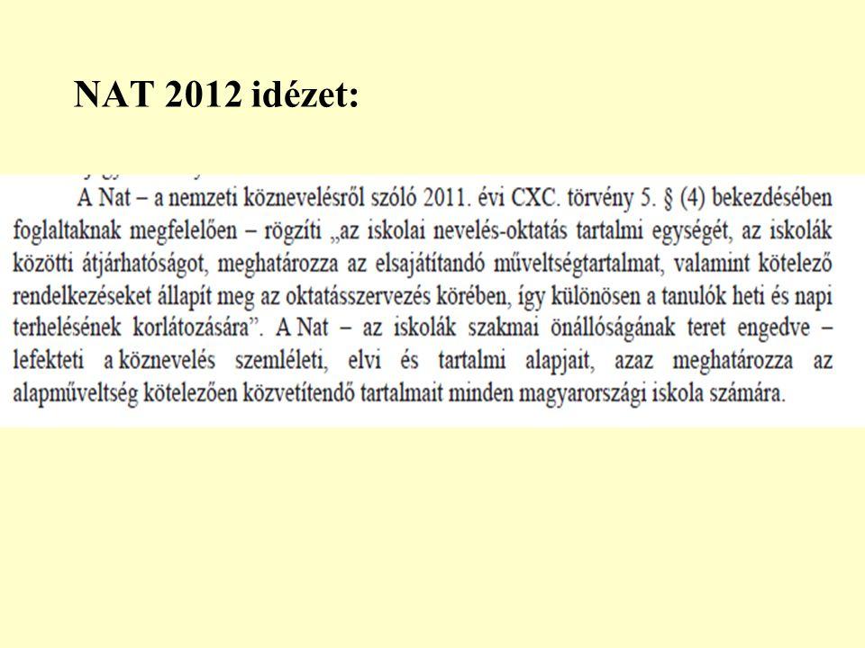 NAT 2012 idézet: