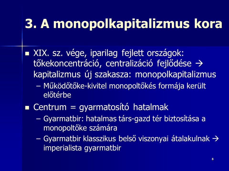 3. A monopolkapitalizmus kora
