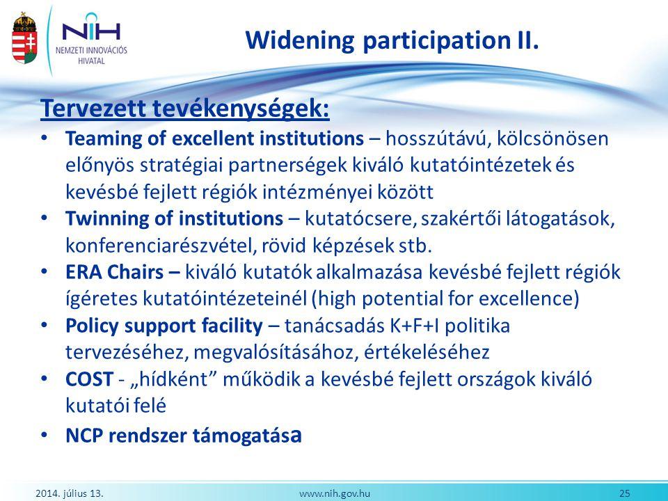 Widening participation II.