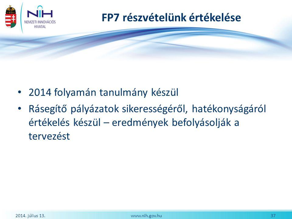FP7 részvételünk értékelése