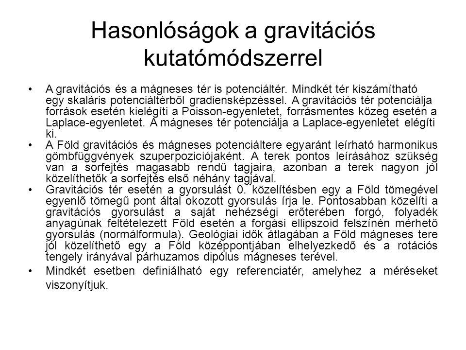Hasonlóságok a gravitációs kutatómódszerrel
