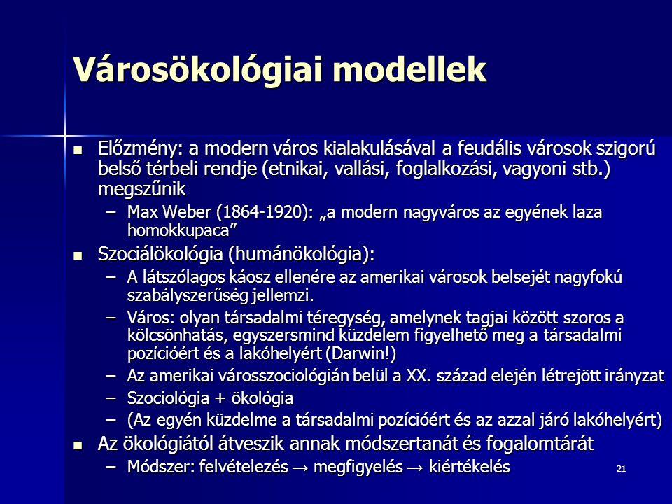 Városökológiai modellek