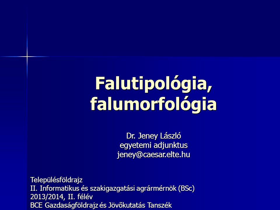 Falutipológia, falumorfológia