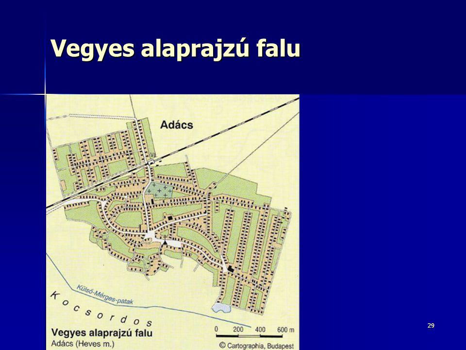 Vegyes alaprajzú falu