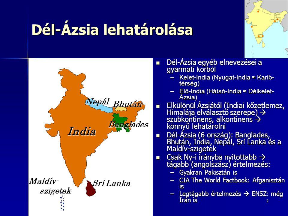 Dél-Ázsia lehatárolása