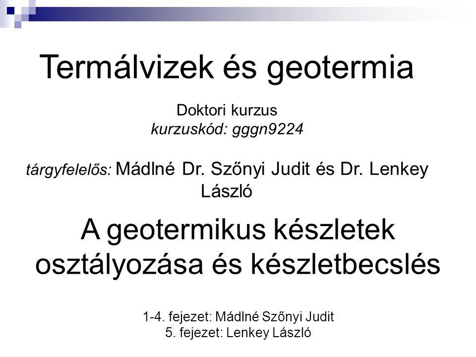Termálvizek és geotermia