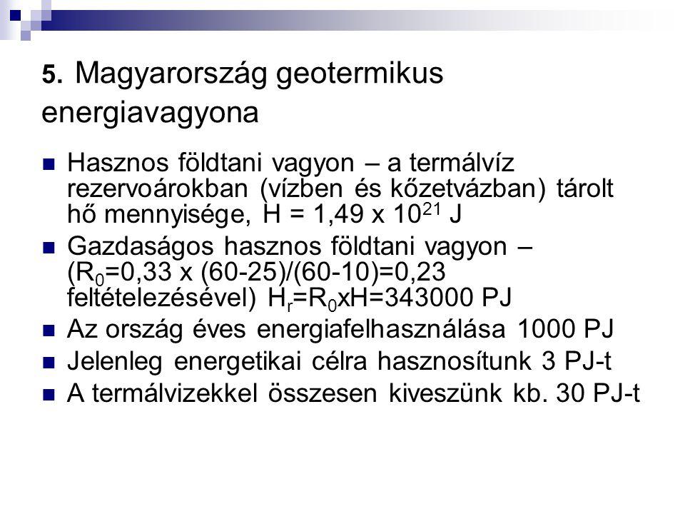 5. Magyarország geotermikus energiavagyona