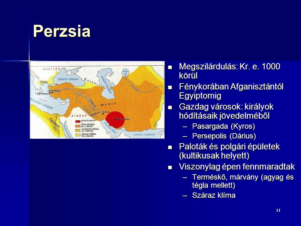 Perzsia Megszilárdulás: Kr. e. 1000 körül