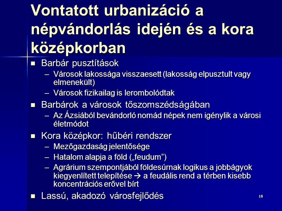 Vontatott urbanizáció a népvándorlás idején és a kora középkorban