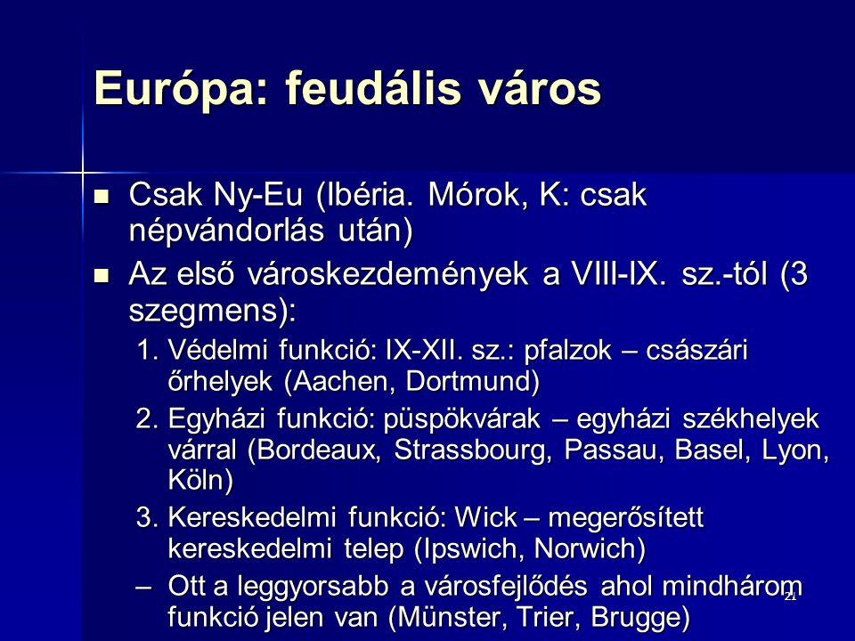 Európa: feudális város