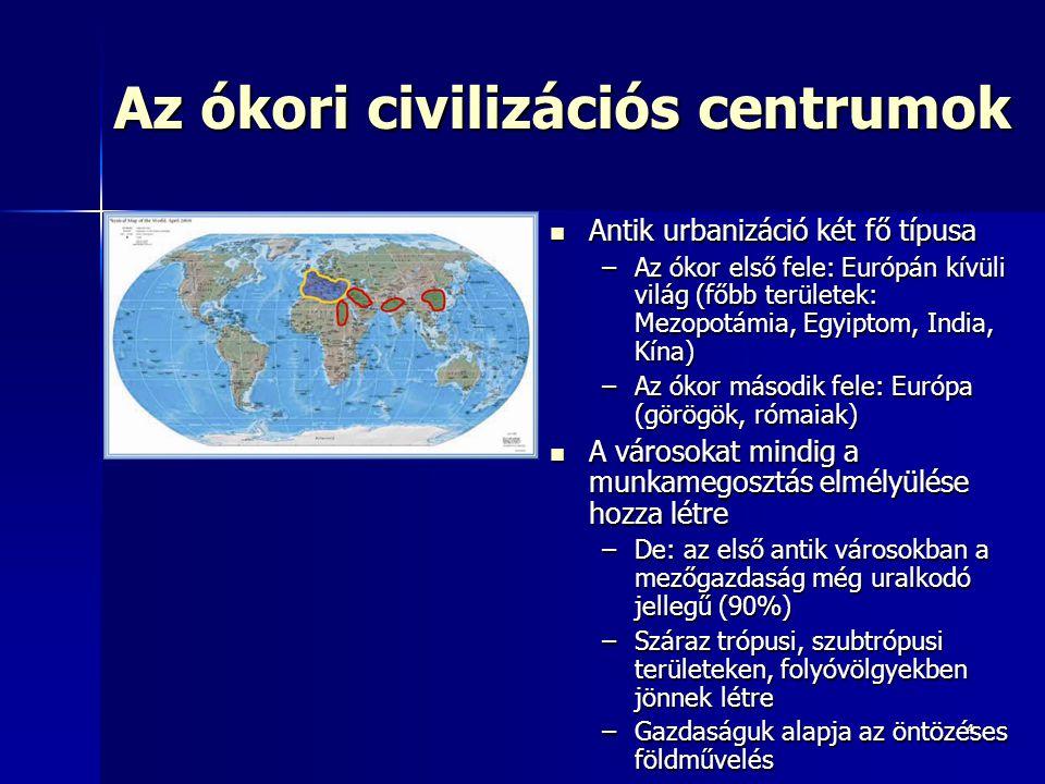 Az ókori civilizációs centrumok
