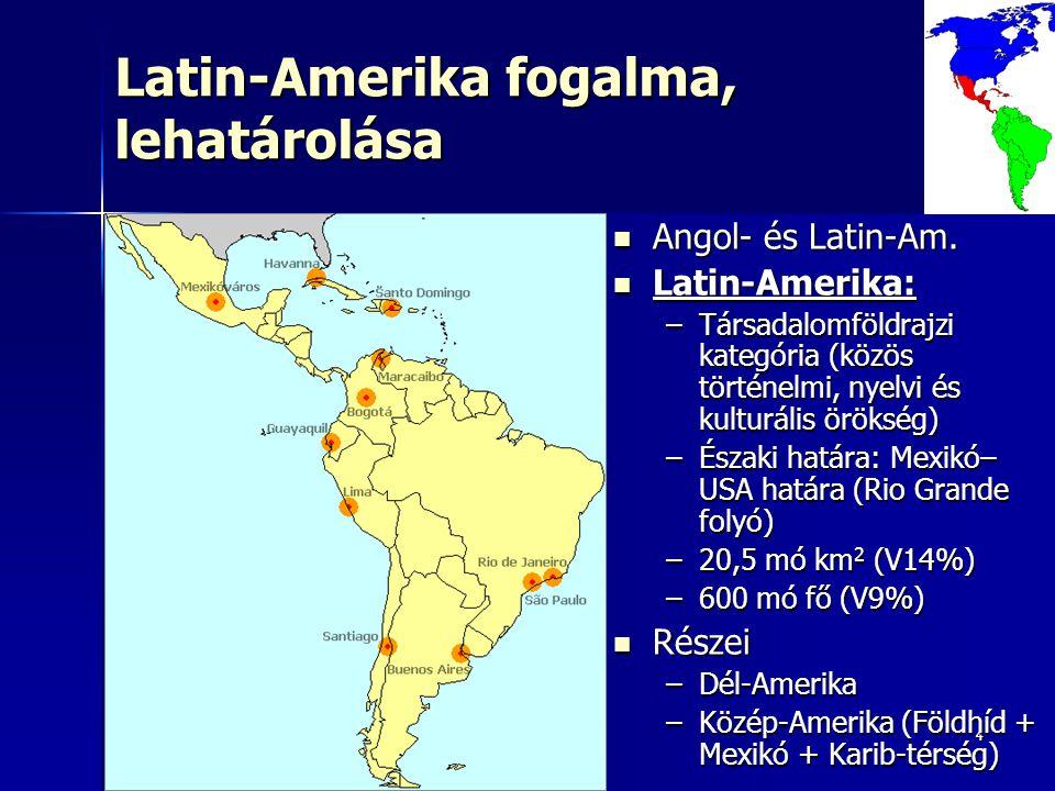 Latin-Amerika fogalma, lehatárolása