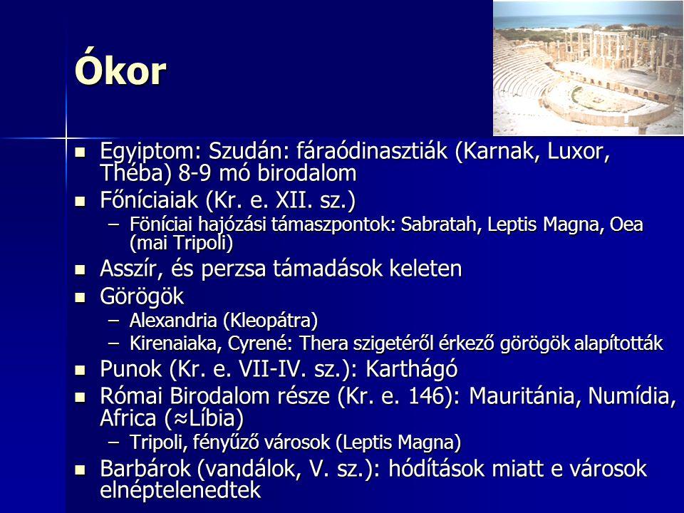 Ókor Egyiptom: Szudán: fáraódinasztiák (Karnak, Luxor, Théba) 8-9 mó birodalom. Főníciaiak (Kr. e. XII. sz.)