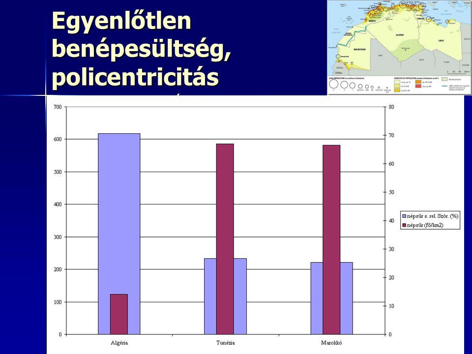 Egyenlőtlen benépesültség, policentricitás