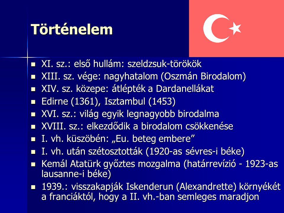 Történelem XI. sz.: első hullám: szeldzsuk-törökök