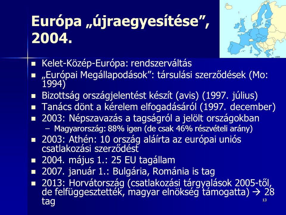 """Európa """"újraegyesítése , 2004."""